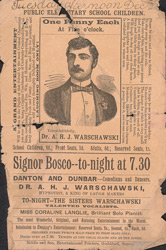 Advert for a children's concert